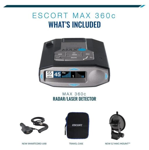 Escort Max 360c International Lieferumfang