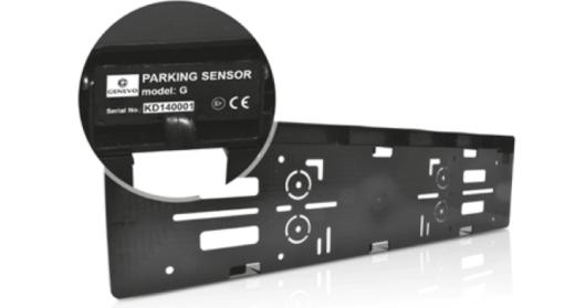 GENEVO FF License plate